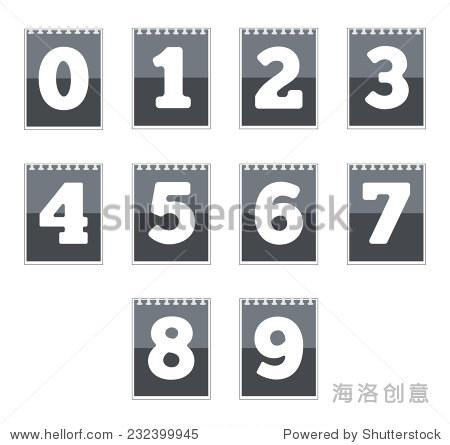 组数字图标.矢量图