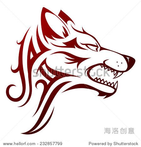 狼的头纹身