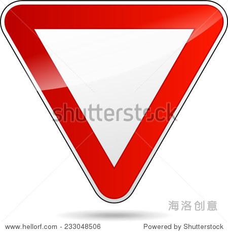插图的设计产生三角形路标