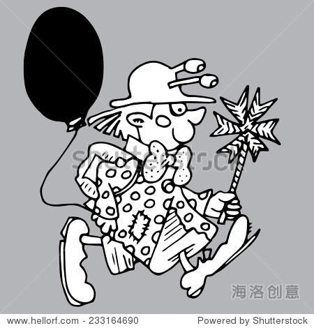 手绘小丑打扮成男生