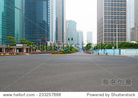 The century avenue of street scene in shanghai Lujiazui,China.