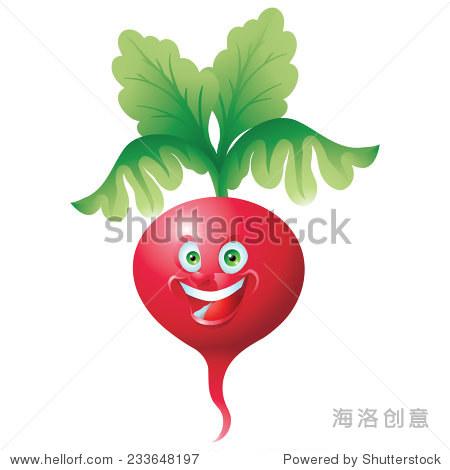 萝卜的笑脸表情的卡通人物