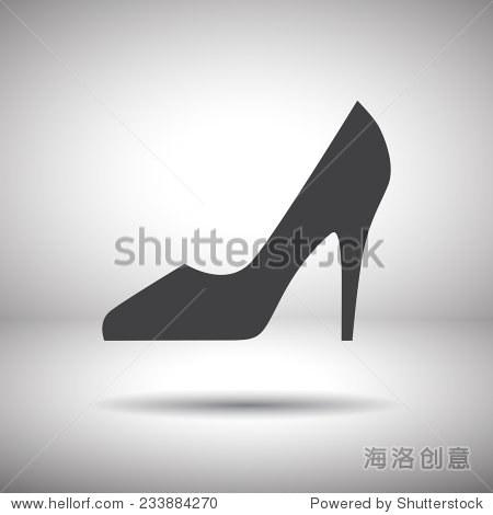 女人的鞋子矢量图标 - 符号/标志 - 站酷海洛创意正版