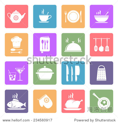 烹饪和厨房平面图标