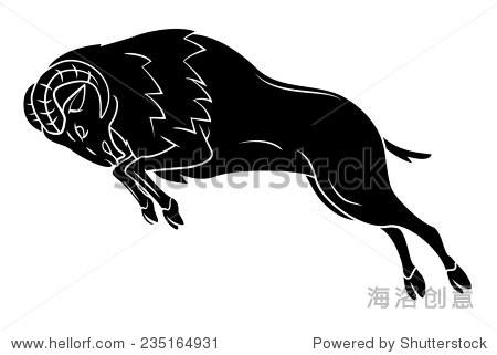 公羊的纹身