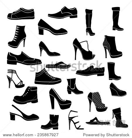 黑色和白色鞋子图标