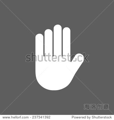 手的图标-符号/标志-海洛创意正版图片,视频,音乐素材