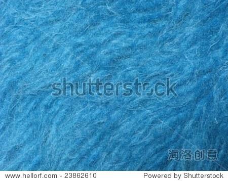 近距离的蓝色马海毛地毯-背景/素材,抽象-海洛创意,,.