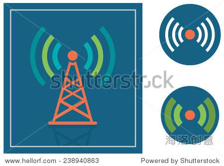 传输/无线电塔图标矢量图
