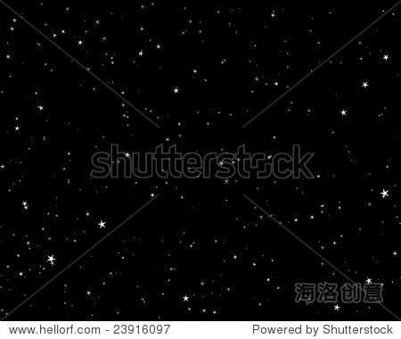 美丽的夜晚星空背景.矢量插图.