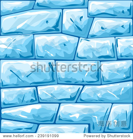 vector illustration of blue ice brick seamless pattern