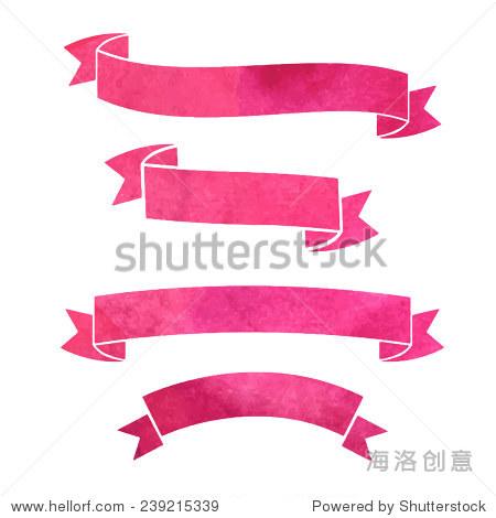向量水彩彩色丝带横幅 - 背景/素材,艺术 - 站酷海洛