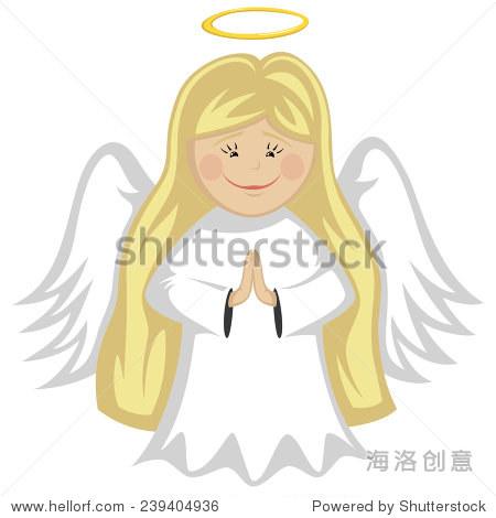 小可爱的天使——金发天使祈祷
