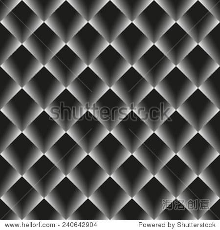 向量无缝的背景和灰色菱形网格.