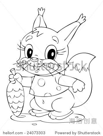 小松鼠的插图