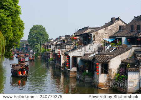 XITANG, CHINA - SEP 14: Traveler at Xitang ancient town on Sep 14, 2013 , Xitang is first batch of Chinese historical and cultural town, located in Zhejiang Province, China.