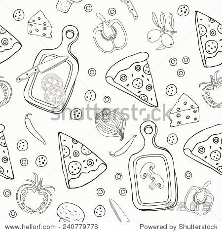 手绘pizza