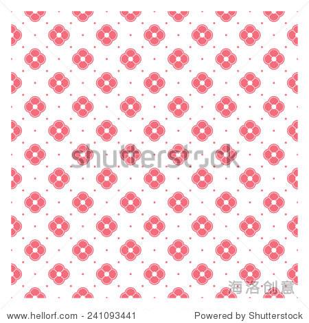 粉色花朵白色虚线背景-背景/素材