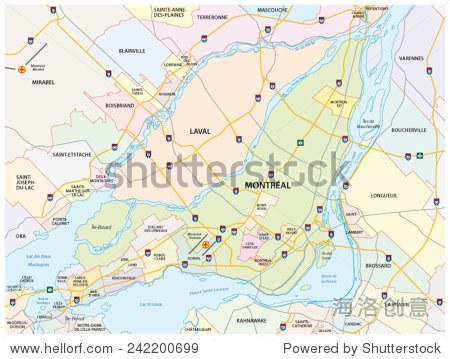 蒙特利尔市街道地图