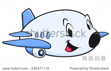 矢量图的一个可爱的卡通飞机设计元素