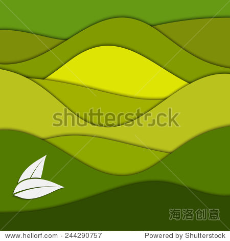 abstract green paper background for your design图片