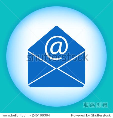 股票矢量插图:邮件图标