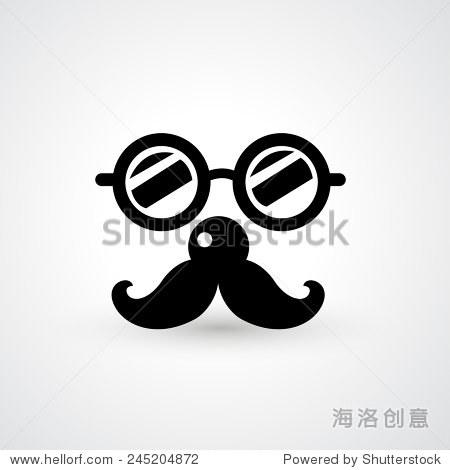 眼镜,胡子图标矢量-艺术,符号/标志-站酷海洛创意正版