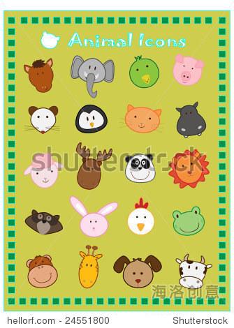 可爱的动物插图-动物/野生生物