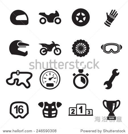摩托车赛车图标 - 符号/标志,运动/娱乐活动 - 站酷