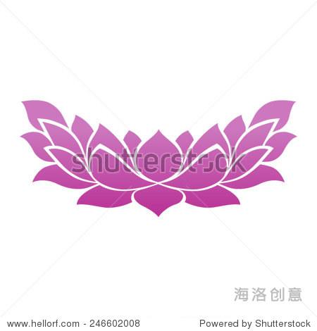 莲花纹身图标禅瑜伽spa和冥想