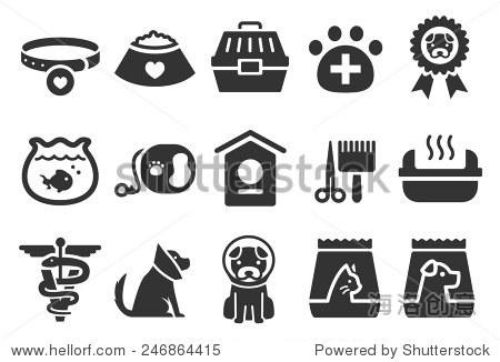股票矢量插图:宠物图标设置2