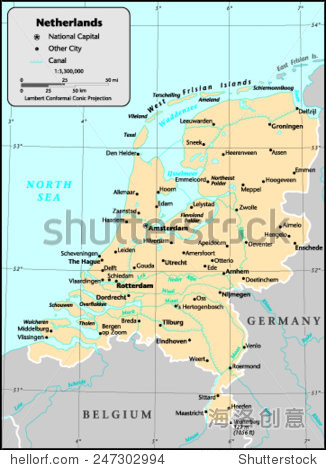 荷兰国家地图