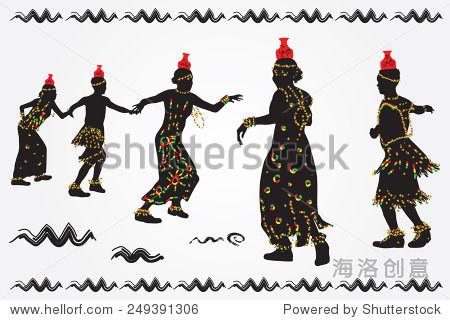 非洲视频和效果跳舞民间舞蹈。-艺术,女人-站人物男人声图片