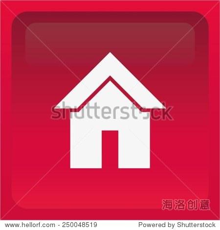 房子图标,矢量图.-商业/金融,符号/标志-海洛创意正版