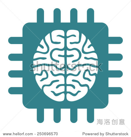 大脑 电路板 logo