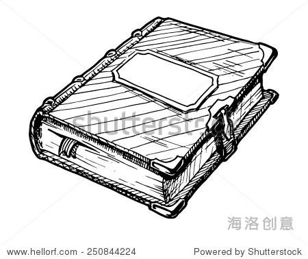 手绘插图的书.