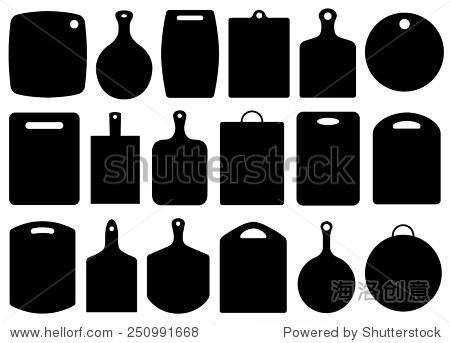 套厨房砧板孤立在白色的 - 物体,其它 - 站酷海洛创意