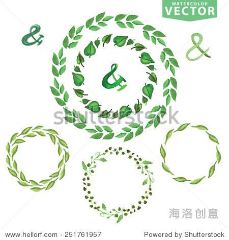 手画树枝,树叶花瓣装饰元素.设计模板,邀请.自然,有机的物品.