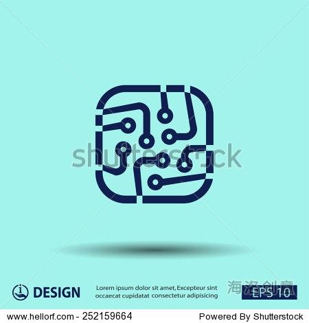 象形文字的电路板 - 符号/标志,其它 - 站酷海洛创意