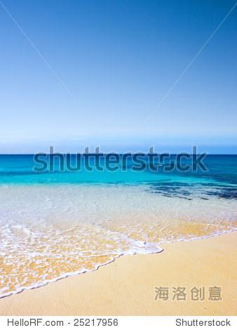 在阿森松岛美丽的海滩