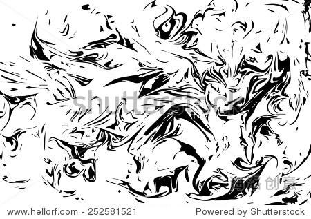 黑白惊人的艺术品纹理ebru,利用水抽象背景
