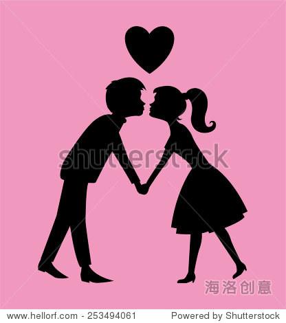 kissing夫妇侧影 - 假期,人物 - 站酷海洛创意正版