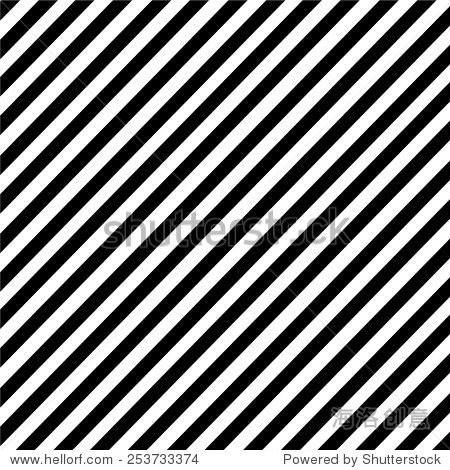 黑色和白色的斜条纹图案