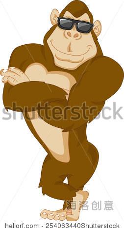 卡通可爱的大猩猩