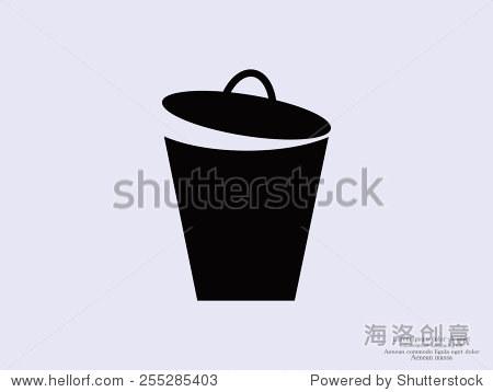 垃圾桶矢量图标 - 科技
