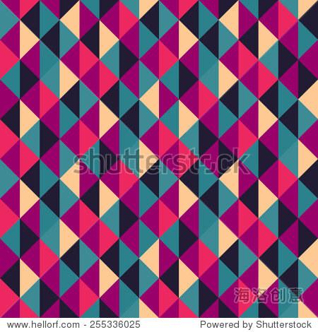 无缝的三角形几何背景.马赛克.抽象的矢量图