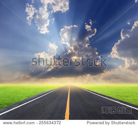空的柏油路-交通运输,背景/素材-海洛创意正版图片