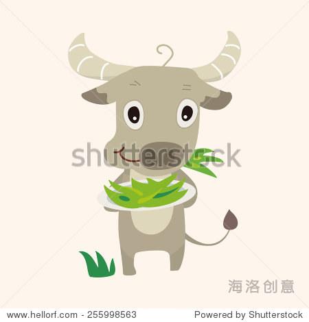 动物牛卡通主题元素