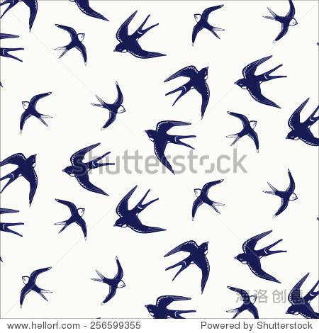 燕子编织棉鞋图案