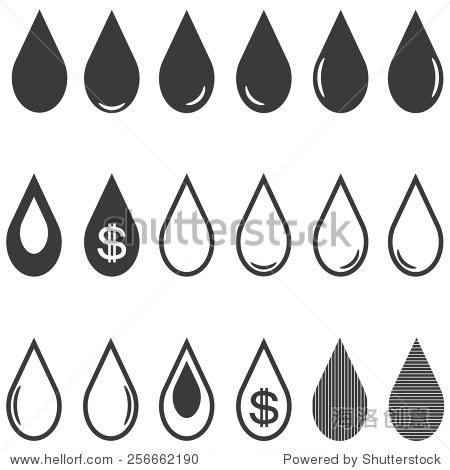 水滴的图标 - 符号/标志,其它 - 站酷海洛创意正版